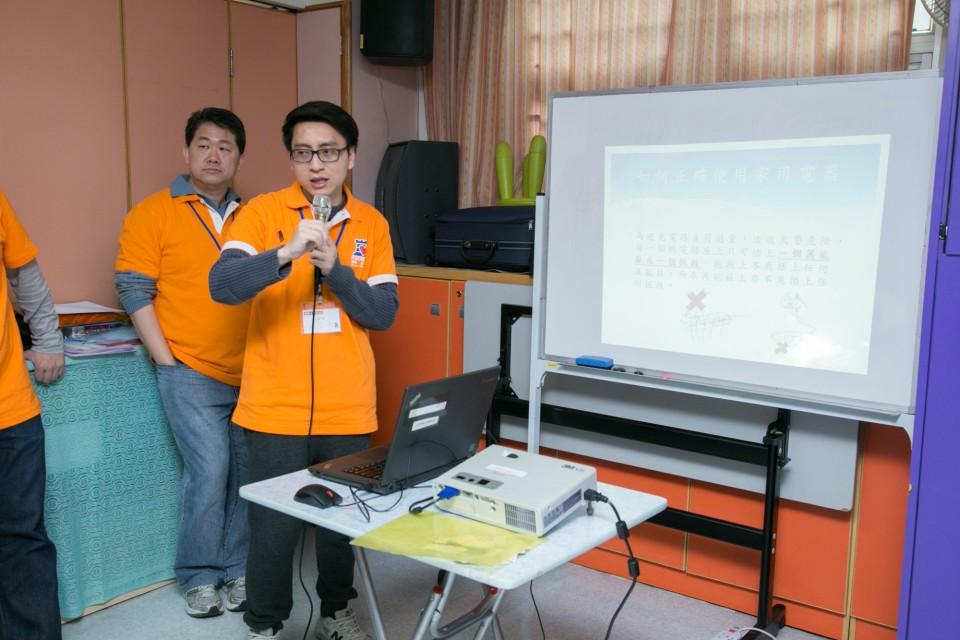 豐澤義工透過講座和問答遊戲向長者講解家電安全知識