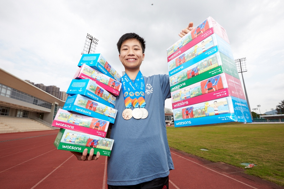 運動員義賣香港特奧特別版創意盒裝面紙