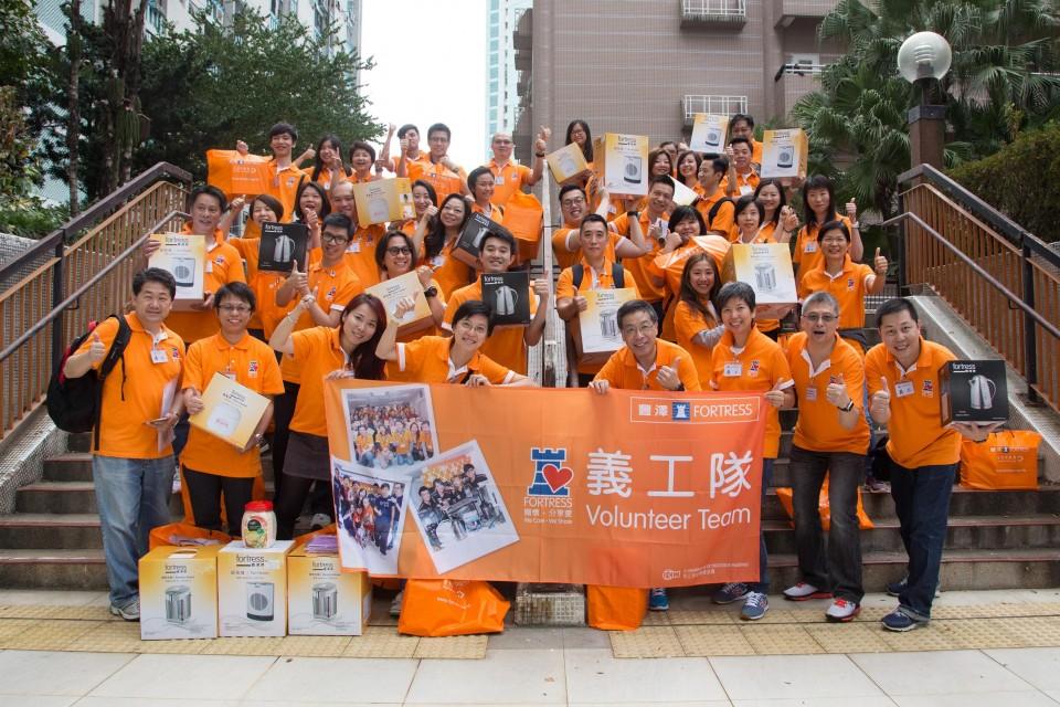 豐澤義工隊於探訪前的大合照